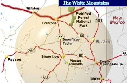 The general area of the White Mountains